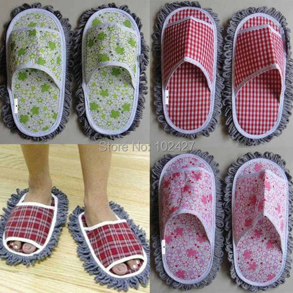 Dust Floor Cleaning Slippers Fuzzy House Floor Cleaner for Lazy Girls Cleaning Dust Mop Women'Shoes Multifunction(China (Mainland))