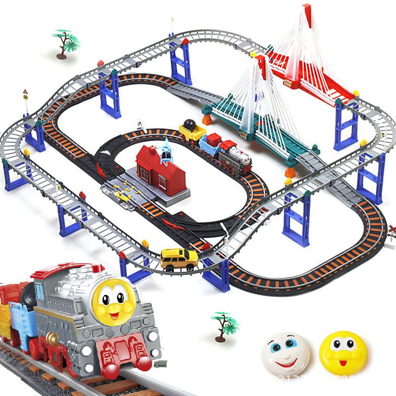 Electric edward thomas and friends train set thomas train track set Kids educational toys with music & light(China (Mainland))