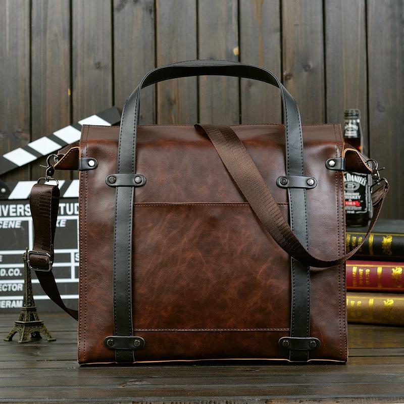 New Korean Men's Business Briefcase Handbag Cross Section Horsehide