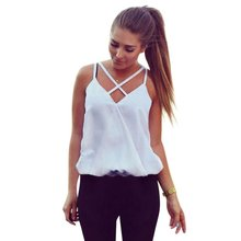 Buy Fashion Blouses Solid Women Summer Vest Top Sleeveless Shirts Blouse Casual Tank Tops Lady 2017 VM for $3.67 in AliExpress store