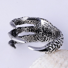2015 New Arrival Men Dragon Claw Titanium Steel Fashion Ring Mens Stainless Steel Vintage Rings Anillos Fine Jewelry NP152(China (Mainland))