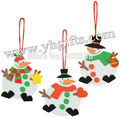 300PCS LOT Red white Green Snowman ornament craft kit Christmas toys Christmas crafts Early educational toy