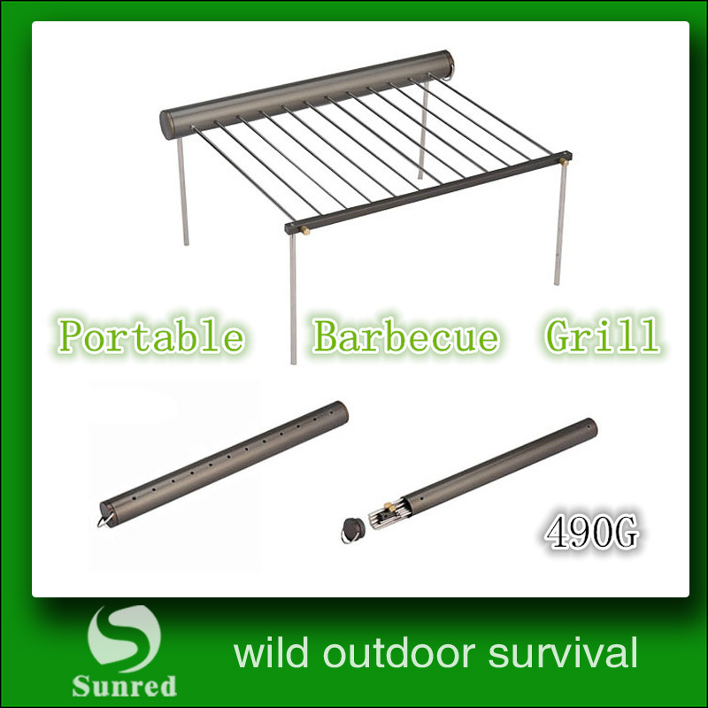 Гаджет  Freee shipping  Portable Stainless steel Camping BBQ  Grill   None Спорт и развлечения