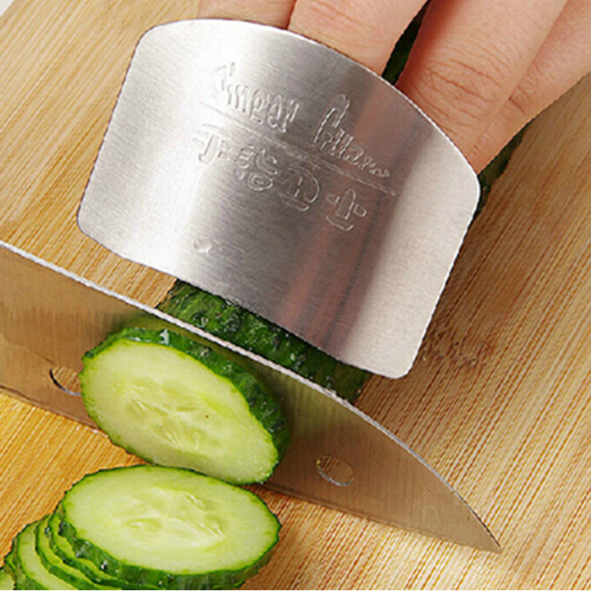 Finger Guard Newest Stainless Steel Protect Finger Hand Not To Hurt Cut Safety Guard Kitchen Cooking Tools Shipping Free(China (Mainland))