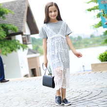 2016 Cute Fashion Dress School Girls Cotton Lace Crochet Frocks Design Teens Age 5 6 7 8 9 10 11 12 13 14T Years Old - Baby Shally's Shop store