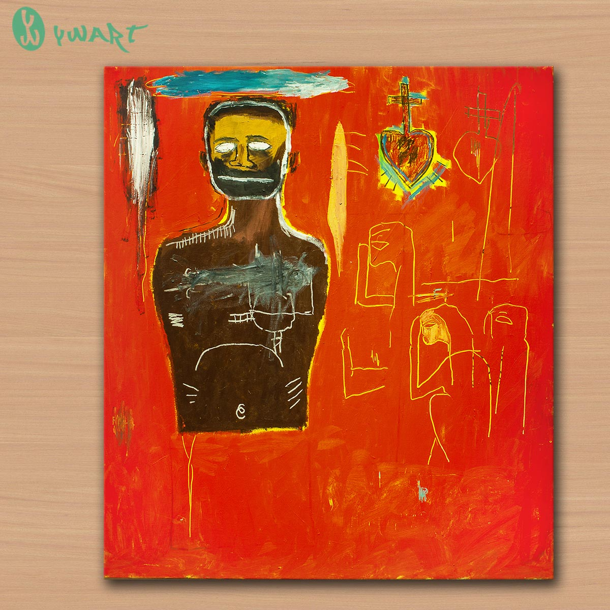 Untitled Cadmium 1984 BY Jean Michel Basquiat Neo-Expressionism GRAFFITI ART POSTER PRINT ON CANVAS FOR HOME DECORATION NO FRAME(China (Mainland))