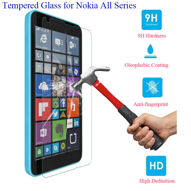 2.5D 9H Tempered Glass Screen Protector Film For Nokia Lumia 535 630 635 640 640XL 730 735 820 830 920 930 For 4G LTE Cover Case(China (Mainland))
