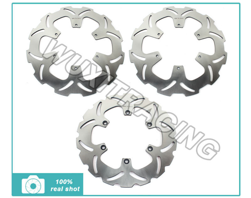 Front + Rear Brake Disc Rotors For KTM LC8 ADVENTURE 950 990 S R 2002 2004 2006 2010 2012