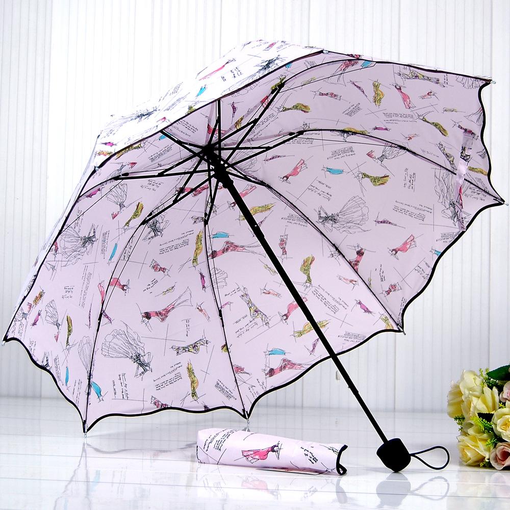 folding seventy percent off lotus leaf shaped advertising umbrella, sun umbrella genuine Princess(China (Mainland))