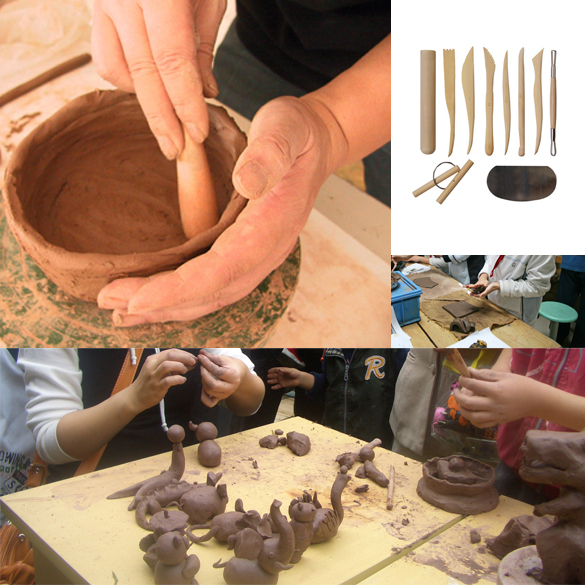10 Wooden Pottery Clay Sculpture Ceramic Working Hand Arts Crafts Tools TB Sale(China (Mainland))