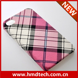 FREE SHIPPING 1 PCS Retail wholesale 2013 Twill Lattice design hard cover cases for iphone 4 4s