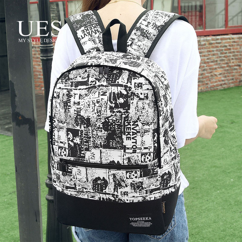 UES Fashion Printing Woman Backpack Cheap China Superme Bag Brand Oxford Backpack For School Girl FBPB008 Free Shipping 2015(China (Mainland))
