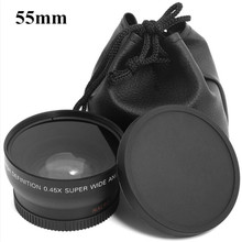 Buy 0.45x 55mm 55 Fisheye Wide Angle Macro Conversion Wide-Angle Lens Bag 62mm Cap Sony A290 A580 A200 A450 A330 HX300 1pcs for $23.00 in AliExpress store