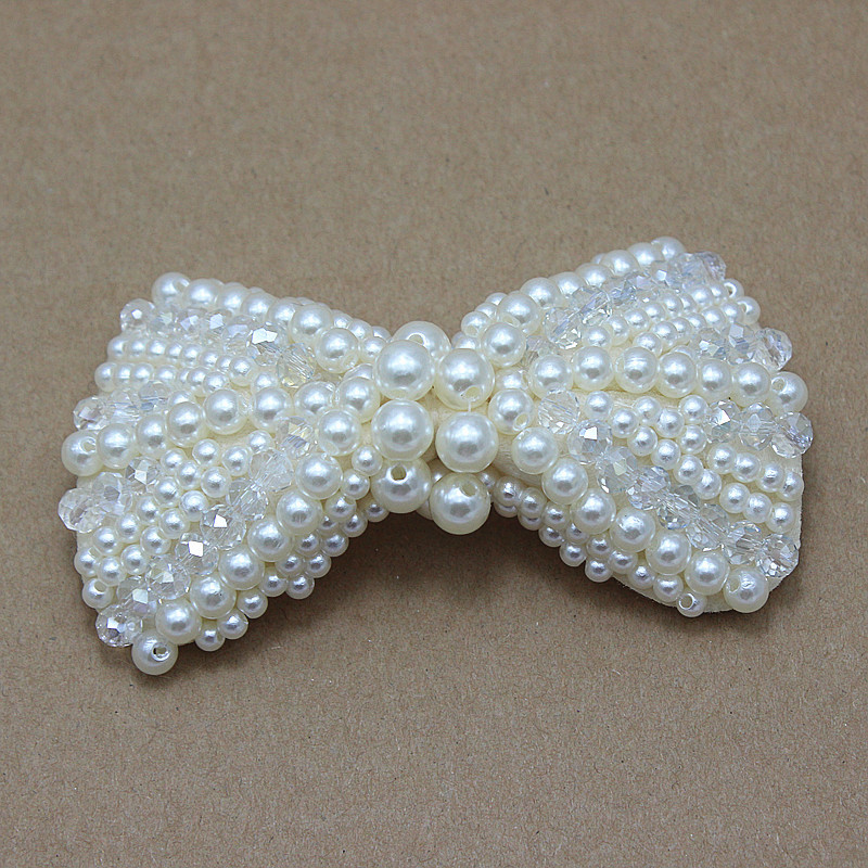 baby girl pearls bows DIY Big Bow shoes Hair Accessories Making Cell Phone Deco wedding Bridesmaid Bridal Jewellery 200pcs/lot(China (Mainland))