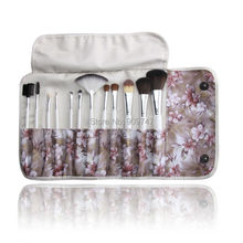 2014 Fashion New Professional Makeup kits 12 PCs Brush Cosmetic Facial Beauty Make Up Set tools With purple flower Bag