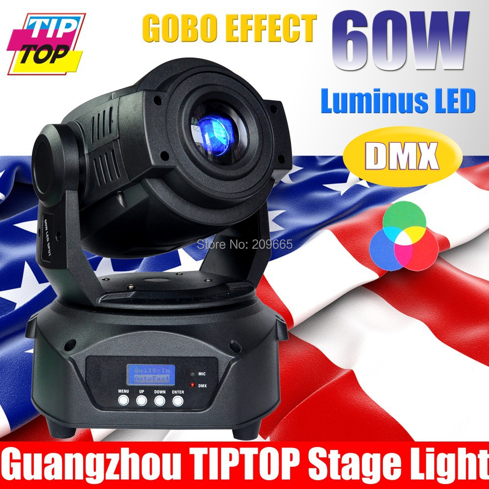 Freeshipping One New 3-Facet Prism 60W Led Moving Light New Ultra Bright 60W Led Moving Head Spot Light 15DMX Channel110V-240V(China (Mainland))