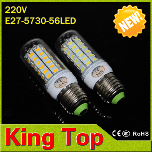 King Top Brand E27 5730 220V Led lamp 56Leds SMD Corn Bulb 18W Led lights Energy Efficient Lighting 1pcs/lot(China (Mainland))