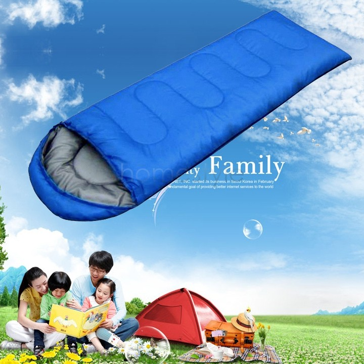 USA DOMESTIC DELIVERY Big Sleeping Bag Outdoor Travel Sleeping Bags For Camping Blue Color Us24(China (Mainland))