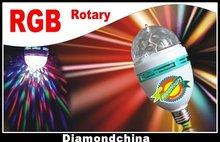 Wholesale - NEW! 3W Colourful LED 360 Degrees Rotary Ball Lamp Projecting Lamp LED Stage Illumination Lamp(China (Mainland))