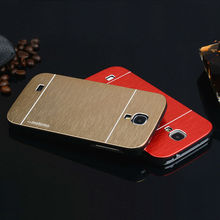 For S4 Mini Aluminum Hard Case for Samsung Galaxy S4 Mini i9190 Luxury Gold Silver Brushed Metal Mobile Phone Back Cases Cover(China (Mainland))