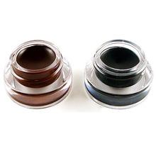 Black Brown 2PCS Waterproof Eye Liner Gel Eyeliner Makeup Cosmetic Brush Sets For Freeshipping
