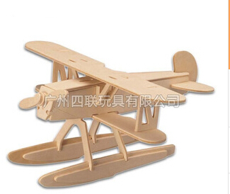 Wooden puzzle fighter aircraft simulation model Hankel assembled DIY 3D three-dimensional jigsaw puzzle(China (Mainland))