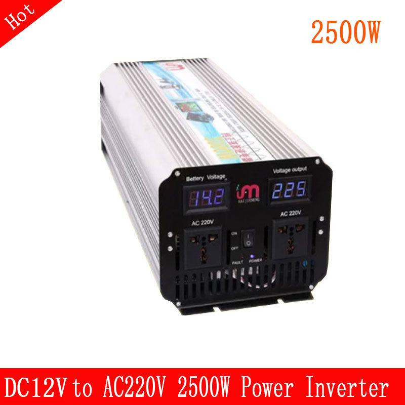 Pure Sine Wave Power inverter DC 12V to AC 220V110V 2500watt PV Module or Wind Turbine<br>