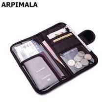 ARPIMALA 2017 Brand Passport Cases Travel Wallet Big Organizer Document Bags Luxury Coin Money Purses Credit Card Holder No Logo(China (Mainland))