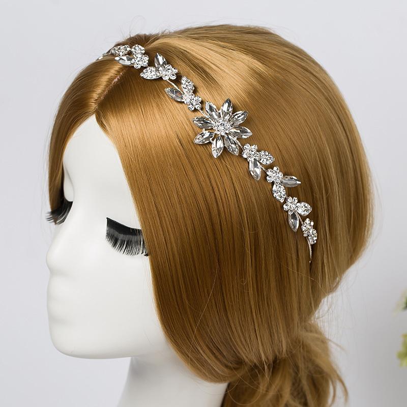 Bridal Rhinestone Crystal Hair Vine Tiara Crown Wedding Comb Hair Chain Headpiece Floral Headband Hair Ornaments for Women(China (Mainland))