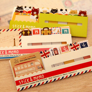 2014 Decoration Stationary Kawaii British Style & Animals Mini Memo Notepad,note Book&memo Pad,sticky Notes Book Mark(China (Mainland))