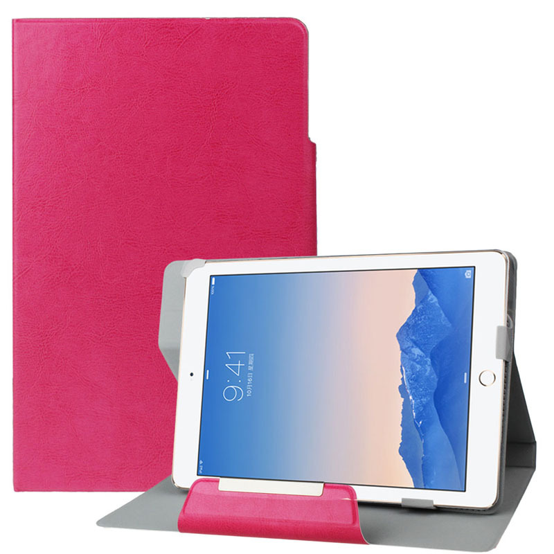 Universal Magnetic Leather Stand Flip Tablet Case Cover For 9 inch Android Tablet PC Notebook Candy Colors(China (Mainland))