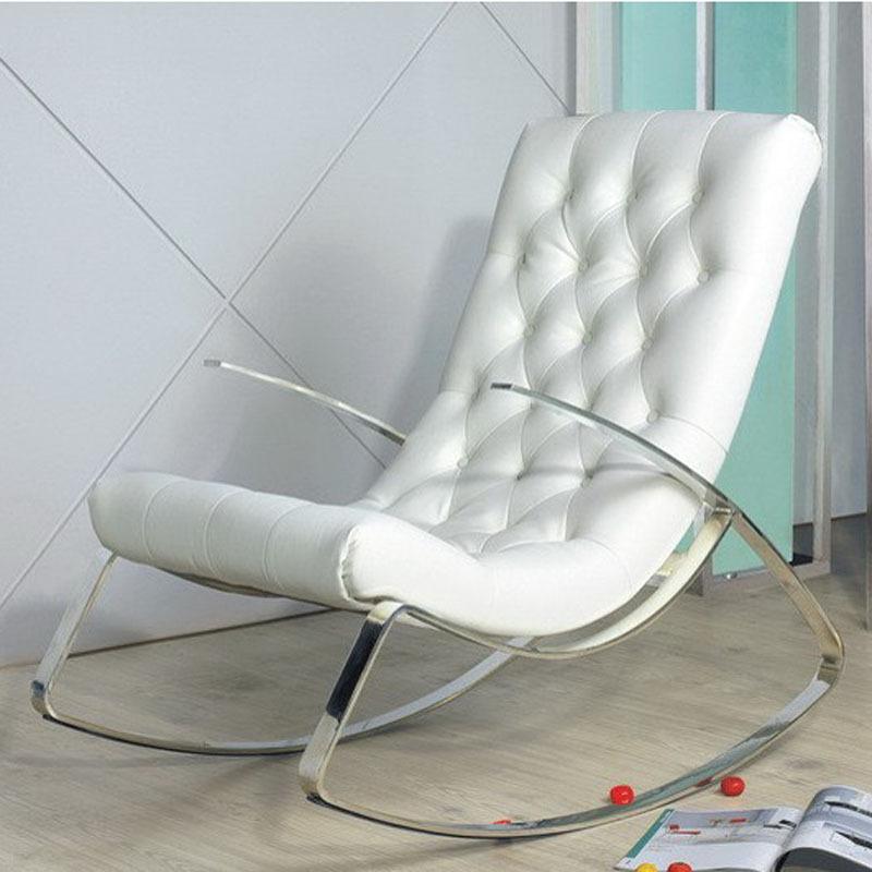 Sedie a dondolo moderna acquista a poco prezzo sedie a for Sedia a dondolo in pelle