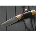 High Quality Damascus Knife Handmade Straight Knife Forged Steel Sharp Hunting Knife Fixed Tactical Knives