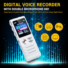 K6 8GB Digital Voice Recorder with Double Microphone HD Recording Premium Metal Case Mic and Dictaphone  USB MP3 Free Headphones(China (Mainland))