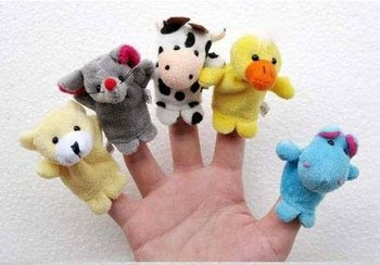 Free Shipping 2012 Baby Plush Toy,Finger Puppets,Talking Props(10 animal group) 10pcs/lot, D006