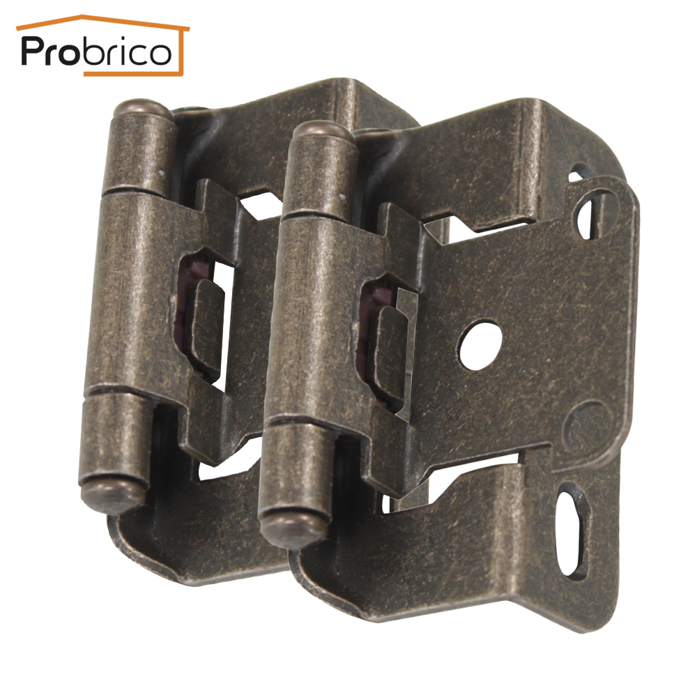 Probrico Wholesale 100Pair Self Close Kitchen Cabinet Hinge Antique Bronze CH196AB Partial Wrap 1/2-Inch Overlay Furniture Hinge(China (Mainland))