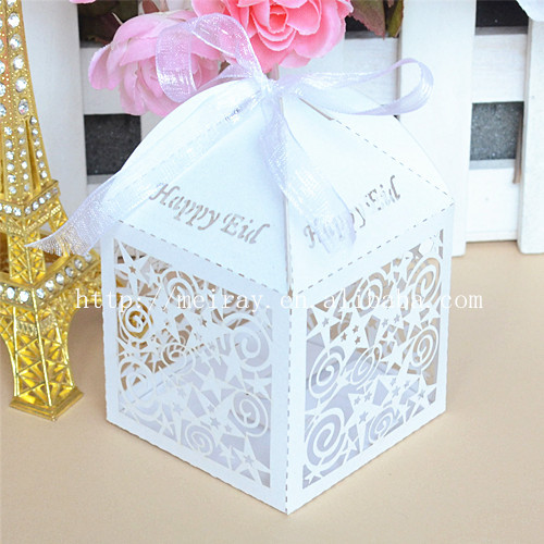 Free shipping to USA&CA! eid decorations stars happy eid candy box laser cut happy eid products best eid gifts(China (Mainland))
