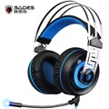 2016 New Sades A7 USB Gaming Headset Headphones 7 1 Stereo Surround Sound Earphones with Mic