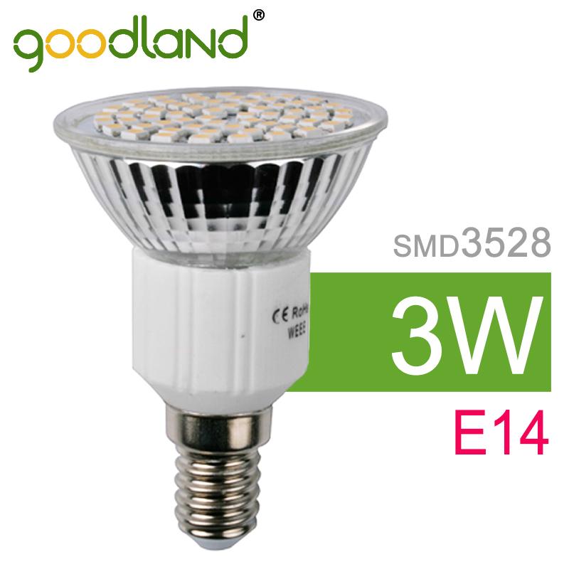 Goodland Brand LED Light E14 3W LED Lamp Bulb Spotlight SMD3528 Energy Saving Lampada Warm White/White Spot Light 6pcs/lot<br><br>Aliexpress