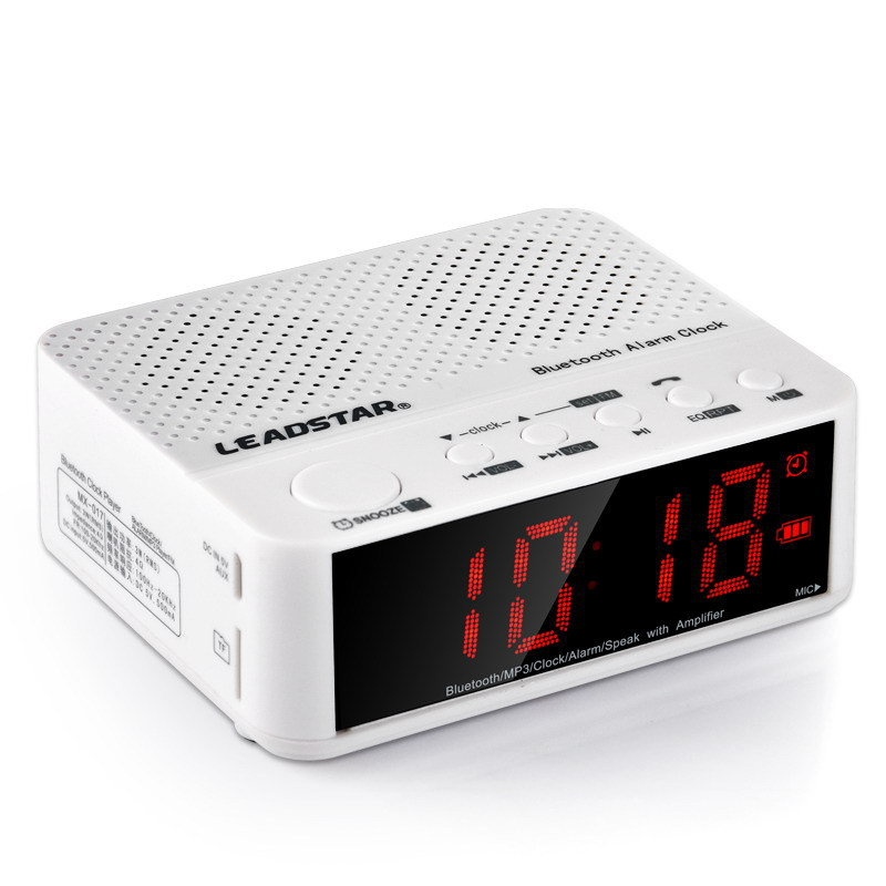 The Multifunctional Bluetooth Speaker Mini Portable Wireless Amplifier FM Radio LED Alarm Clock Wireless For Mobile