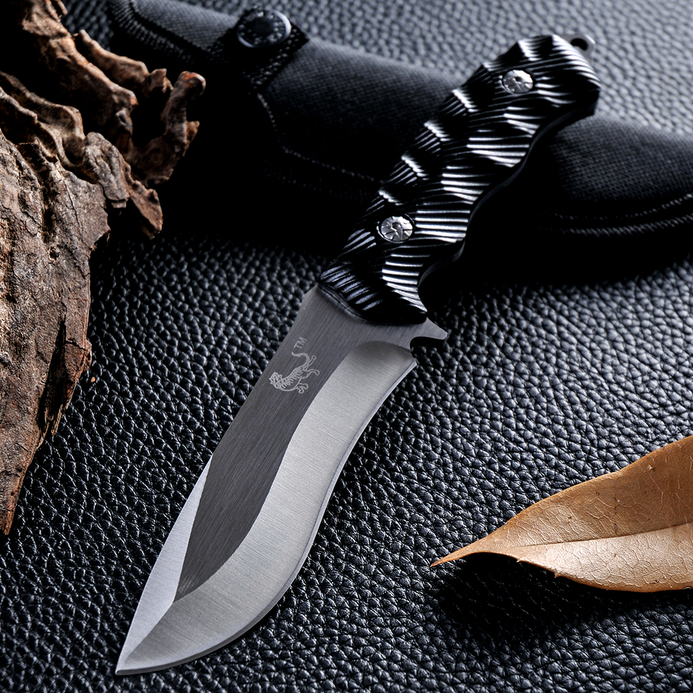 New arrive Hunting Knife Fixed Blade 5CR13MOV Blade Rubber Handle Tactical Survival Tool Outdoor Camping Pocket Knives(China (Mainland))
