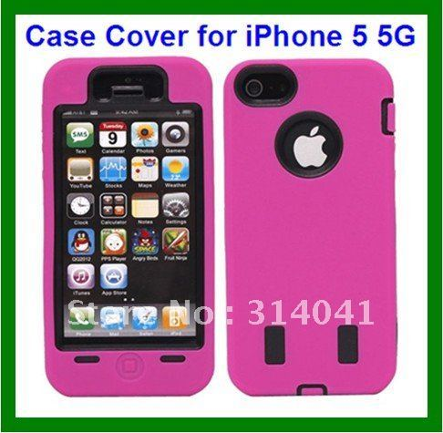 Rugged Rubber Matte Hard Case Cover  for iphone 5 5S ShockProof Silicon Case For iphone 5 5S for iphone 5 case new arrival
