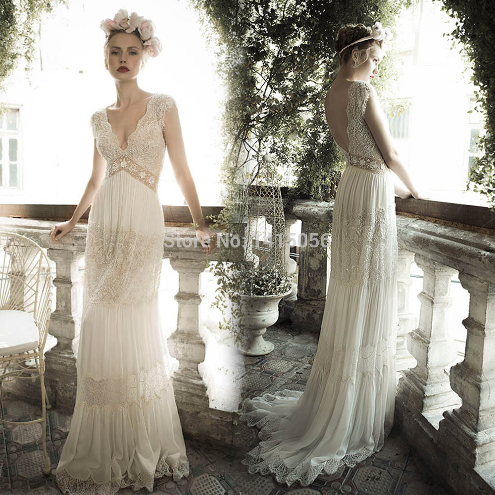 Vintage Boho Wedding Dress | www.imgkid.com - The Image ...