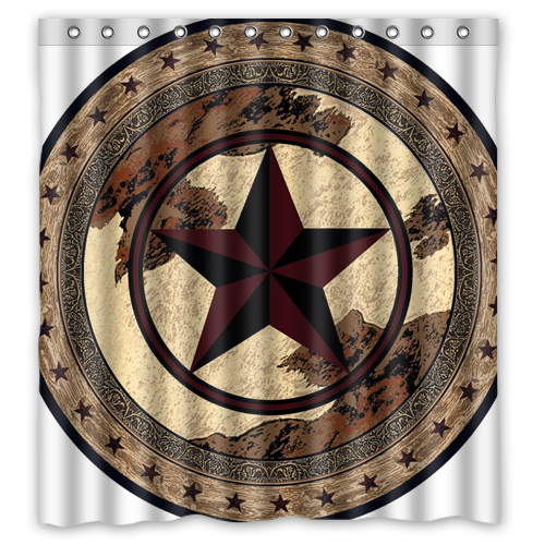 "ANZ Western Texas Star Custom Shower Curtain 66 ""x72"" Waterproof Fabric Shower Curtain for Bathroom(China (Mainland))"
