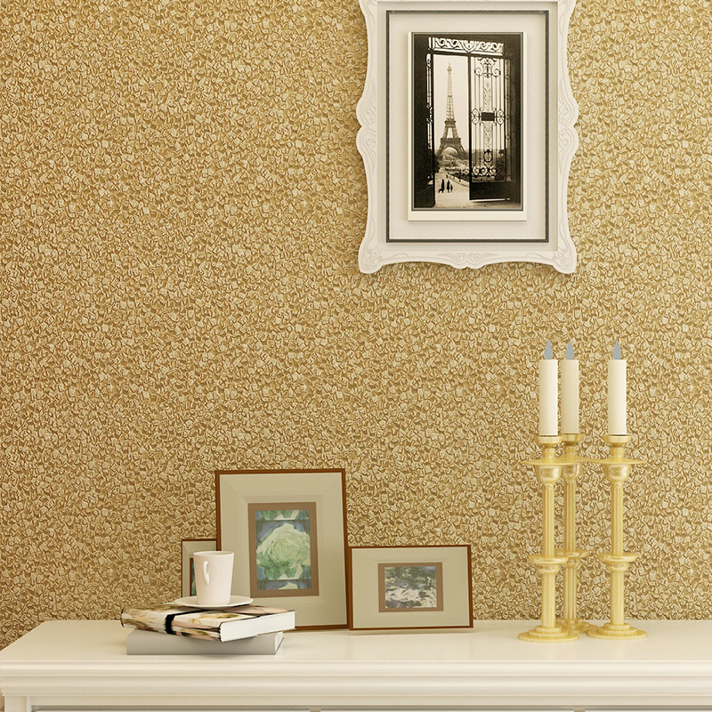Embossed 3d wallpaper modern brief pvc wall paper rolls for Gold wallpaper for walls