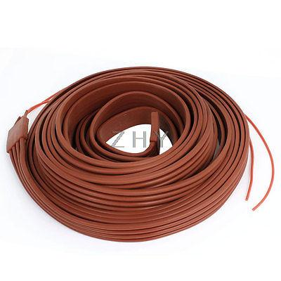 Фотография Red Flexible Silicone Waterproof Heater Strip Band 25mm Wide 10M Long 48V