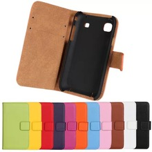 Buy Genuine Leather Wallet Stand Flip Samsung Galaxy S i9000 S1 i9008 i9001 Card Style Stand Case Bags Cover Protector Skin ZZ for $3.51 in AliExpress store