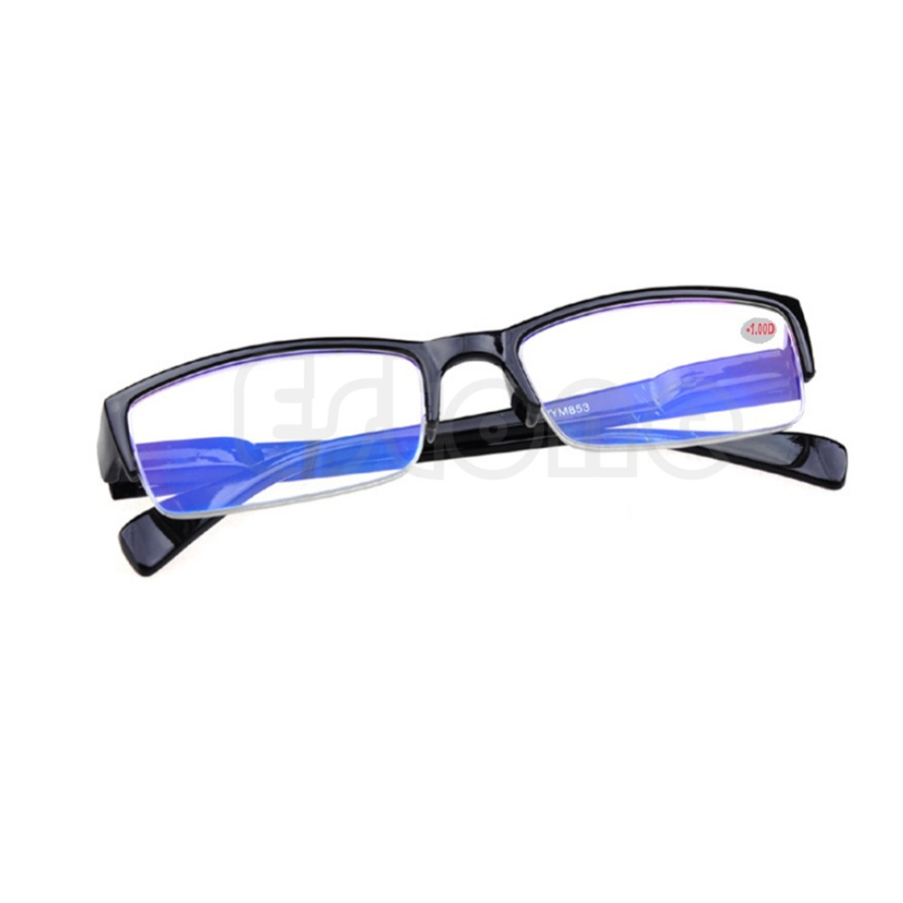 Z101 New Black Frames Semi rimless Eyeglass Myopia Glasses 1 1 5 2 2 5 3