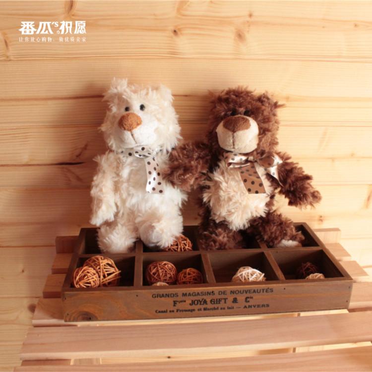 Foreign orders Canda Ganz teddy bear plush toy Free shipping chiristmas gift 29cm 2pcs/1lot juguetes de los cabritos(China (Mainland))