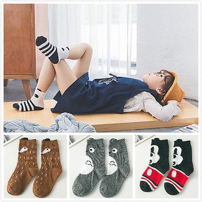 1 пара мальчик девочка фокс тоторо хлопок носки короткие чулочно дети носки 1-10Y